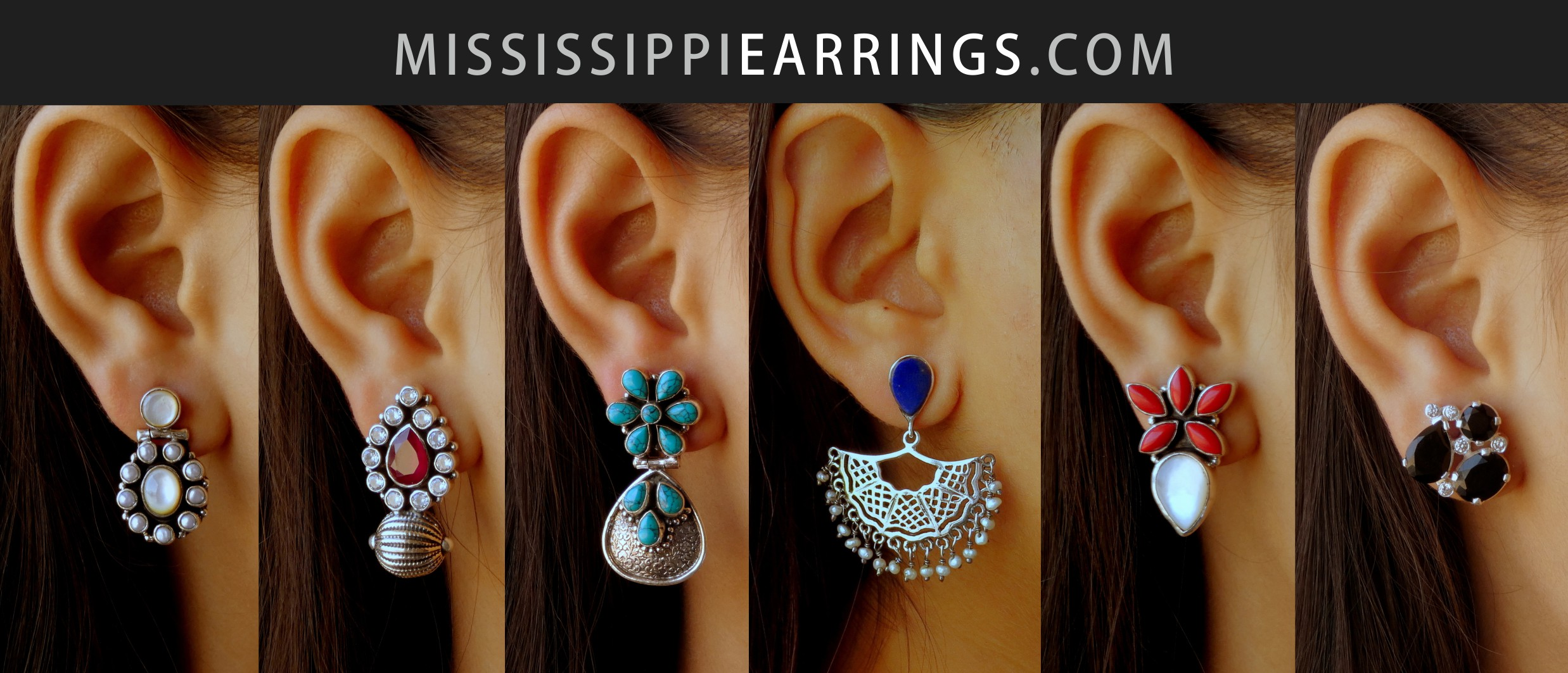 Mississippi Earrings | lyrical earrings in sterling silver